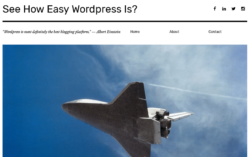 a quick pic of a wordpress blog to show you how easy this platform can be