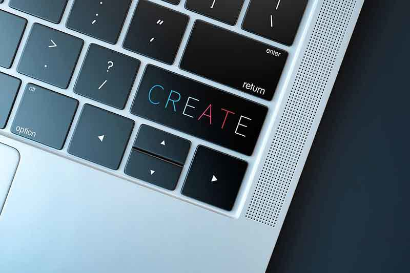 Create, create, create - online business