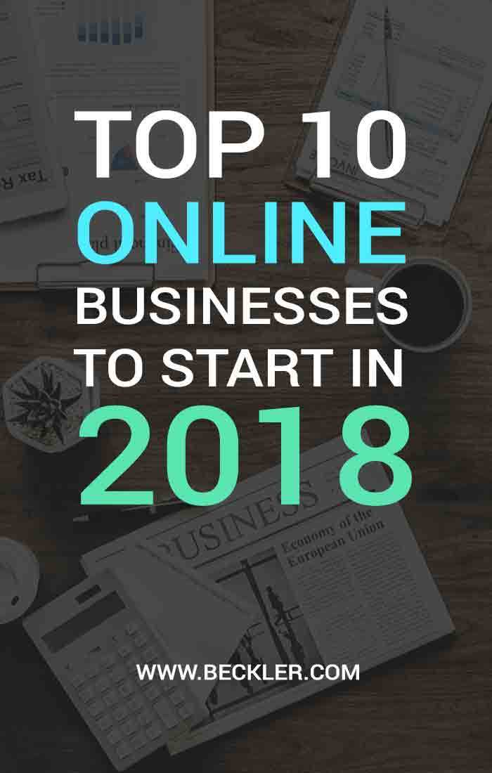 Top 10 Online Business To Start In 2018