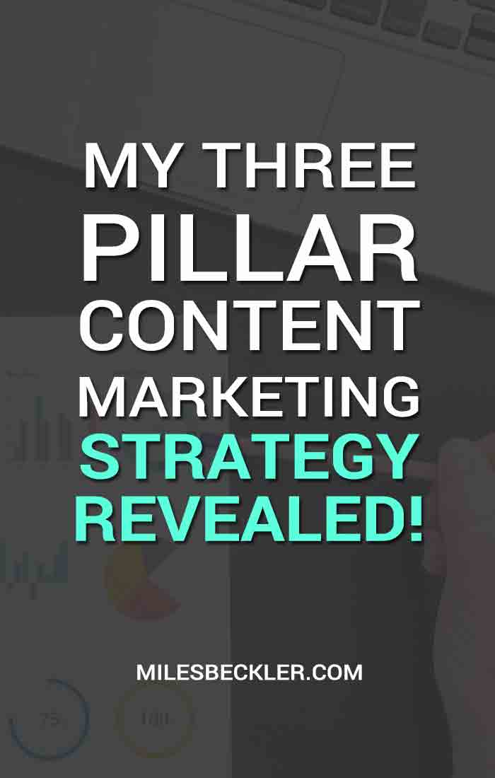 My Three Pillar Content Marketing Strategy Revealed!