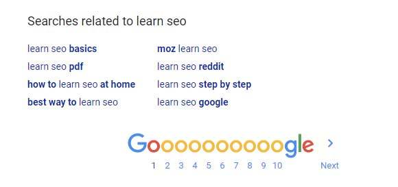 Google your main keyword