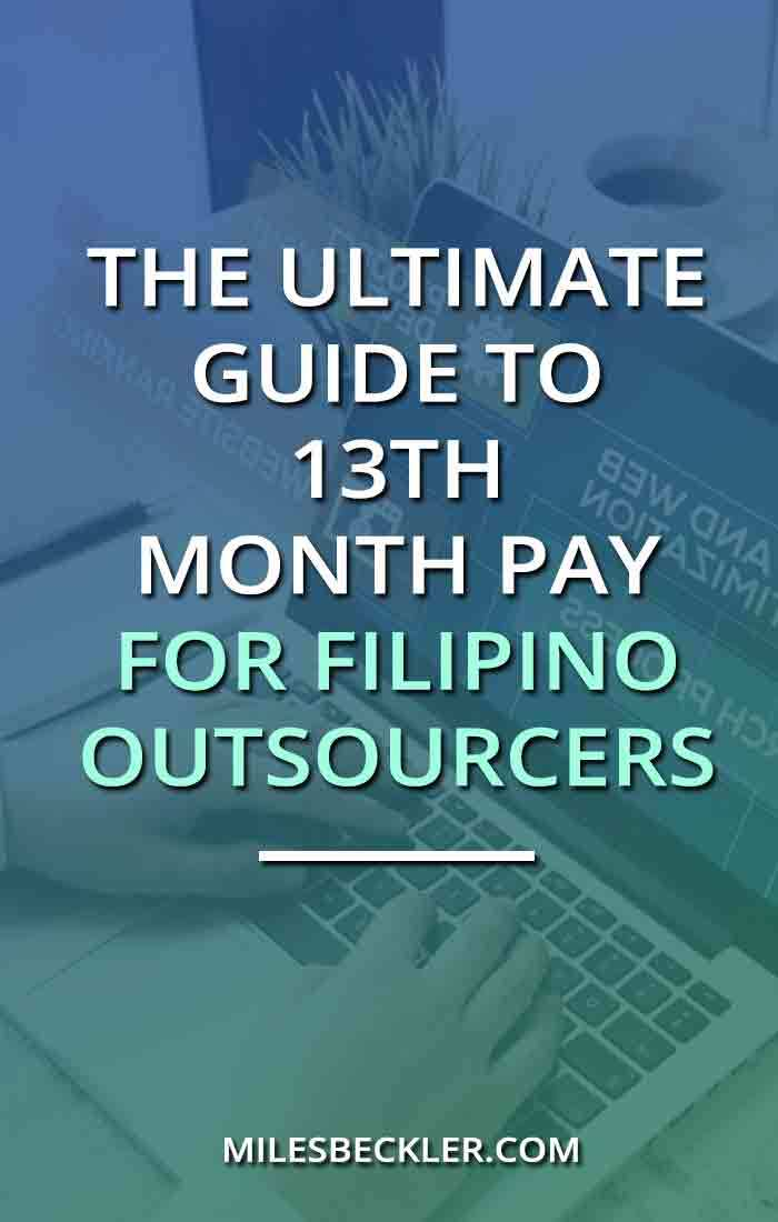 The Ultimate Guide To 13th Month Pay For Filipino Outsourcers