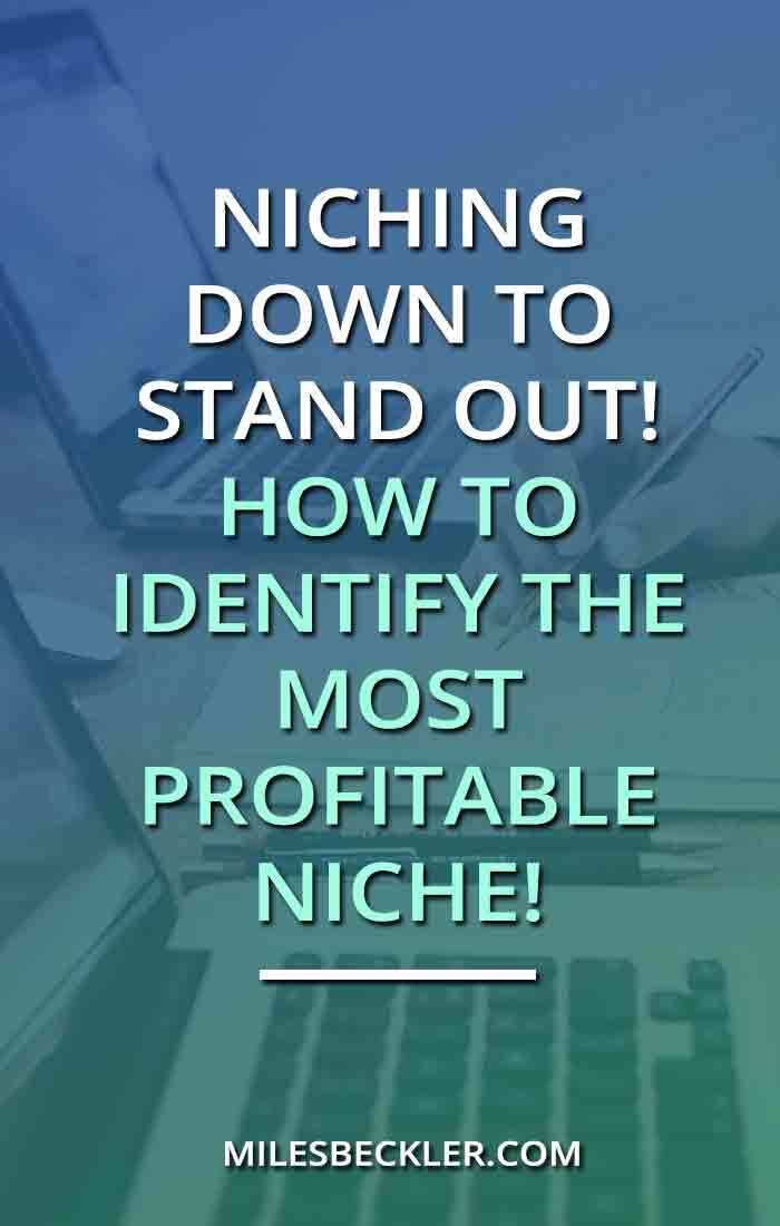 Niching Down To Stand Out! How To Identify The Most Profitable Niche!