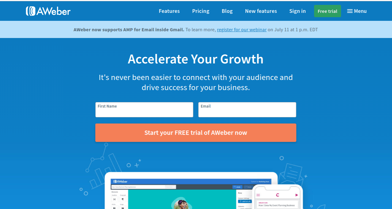 features of aweber