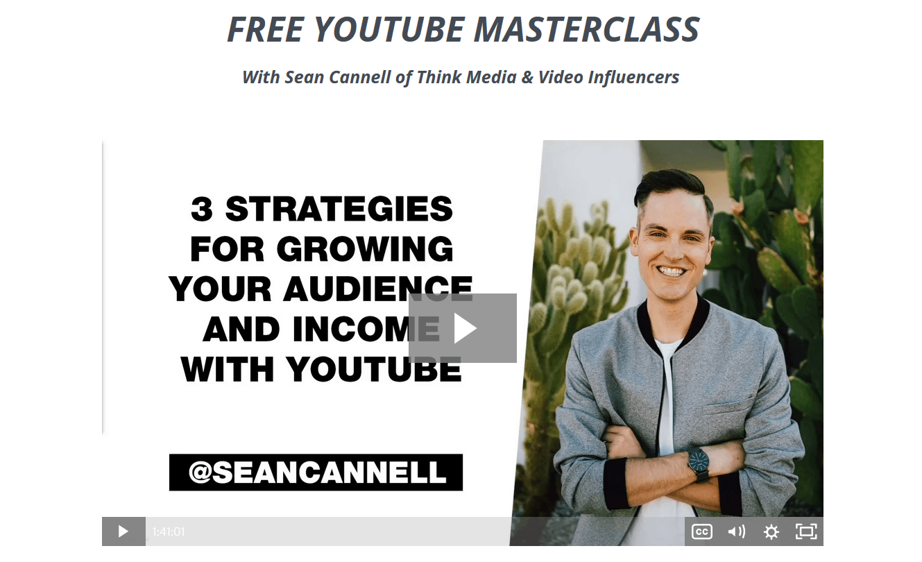 free youtube masterclass