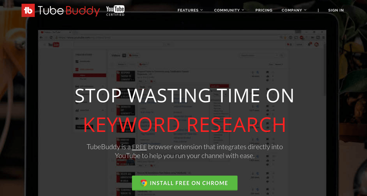 youtube buddy for keyword research