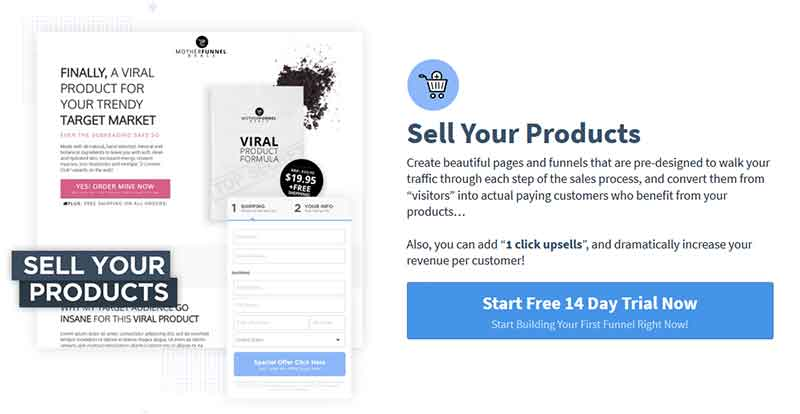 information products on Clickfunnels