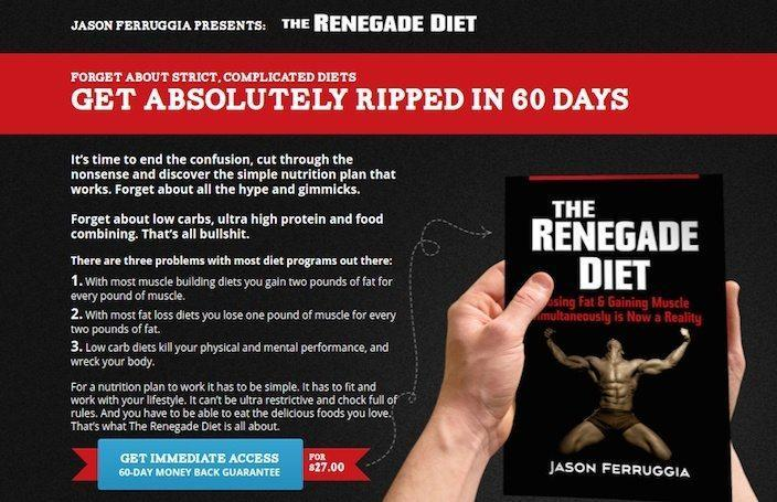 Sales page example by Renegade Diet