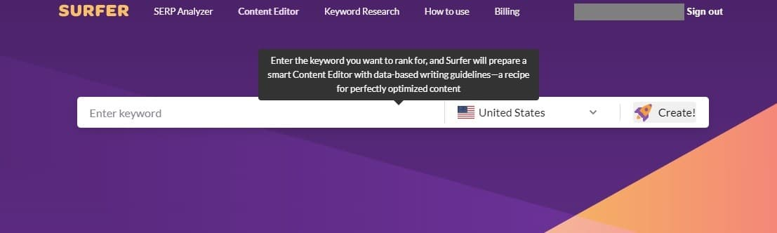 Surfer content Editor