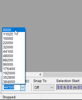 change project rate to the lowest option