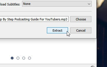 Extract Button