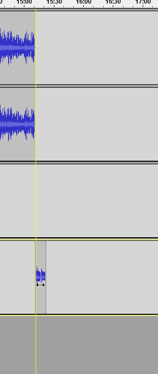 move your outro track to the end of your podcast track