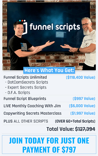Screenshot From The FunnelScripts.com Pricing Page